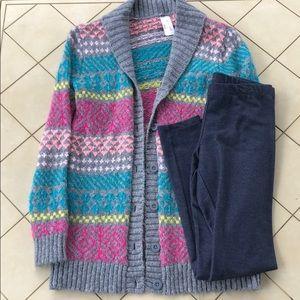 Cat & Jack Cozy Sweater Cardigan Set